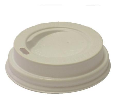 Крышка для стакана пластиковая D=70мм, бел.,100шт./уп.  Формация