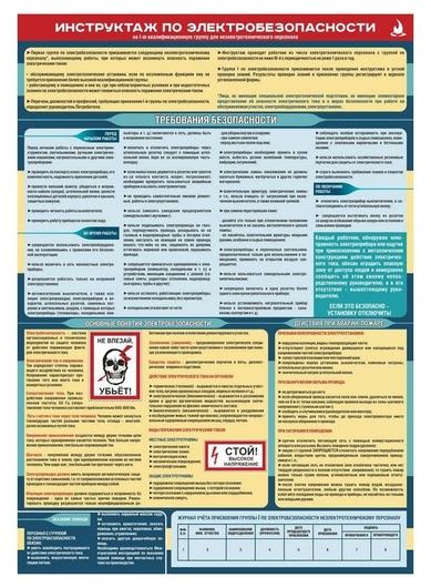Плакат информационный инструктаж по электробезопасности  Гасзнак