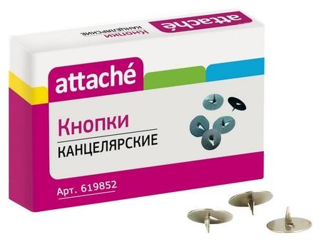 Кнопки Attache, 12мм, металлические 100 шт. карт.уп.  Attache