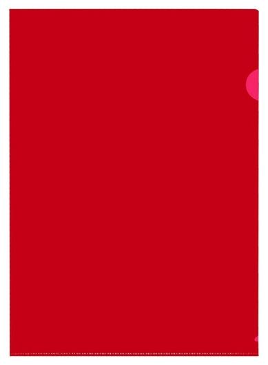 Папка уголок пу-001-пп 120мкр жест.пластик А4 красная прозр 20 шт/уп Attache