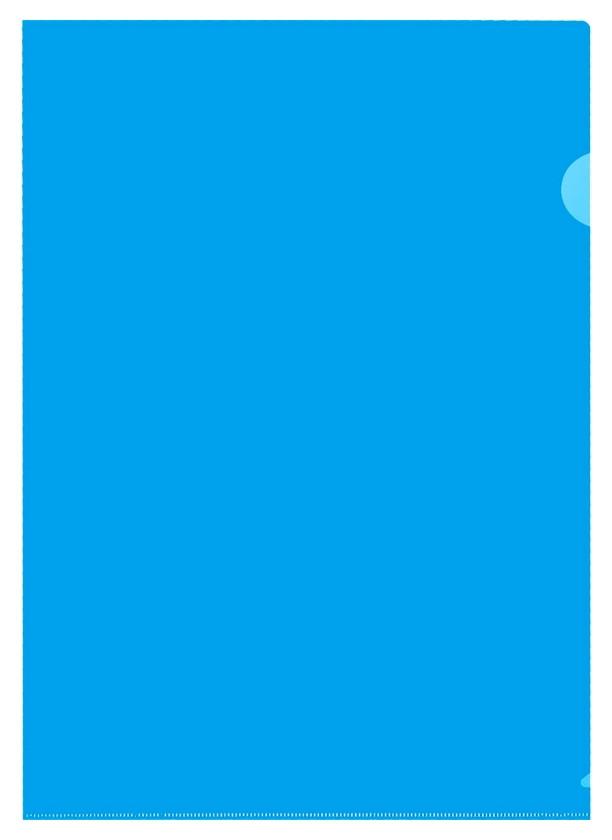 Папка уголок E-310 180мкр жест.пластик А4 синяя прозр.россия 10шт/уп  Attache