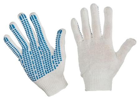 Перчатки защитные трикотажные с ПВХ протектор 4 нити 42г 10класс 10пар/уп  NNB
