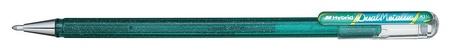 Ручка гелевая Pentel Hibrid Dual Metallic 0,55мм хамелеон зеленый+синий  Pentel
