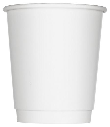 Стакан одноразовый бум 2-сл. D-80мм 250мл белый, комус (25шт/уп)  Комус