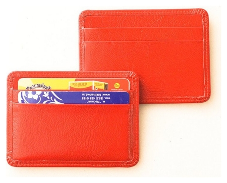 Чехол для карты (Нат. кожа 95х75 02-106-0751 красная)  Grand