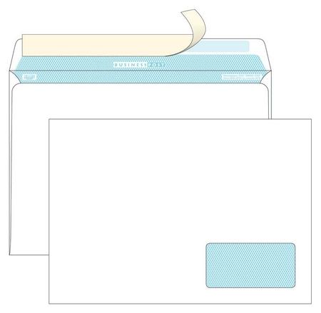 Конверты С4 Businesspost стрип прав.ниж окно (55x110)100г/м2 250шт/уп  Packpost