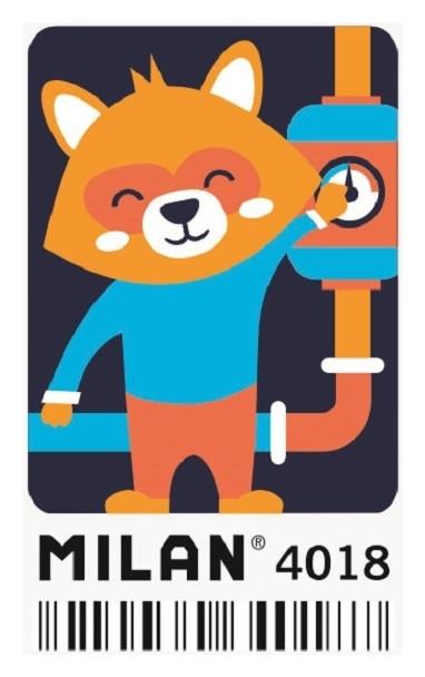 Ластик каучуковый Milan с рисунком Cmm4018, в асс-те (ДС)  Milan