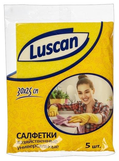 Салфетки хозяйственные Luscan универсальн вискоза 60-70г/м2 30х25 см 5шт/уп  Luscan