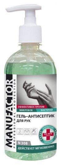 Профхим антисептик кожный гель для дезинфекции рук,спирт Manufactor,0,5л_доз  Manufactor