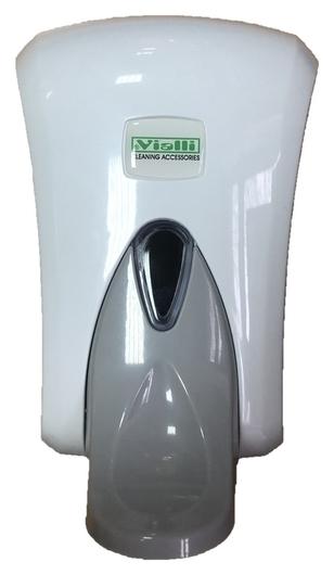 Дозатор для жидкого мыла Vialli для жидкого мыла 1000 мл. (Локтевой) белый  Vialli