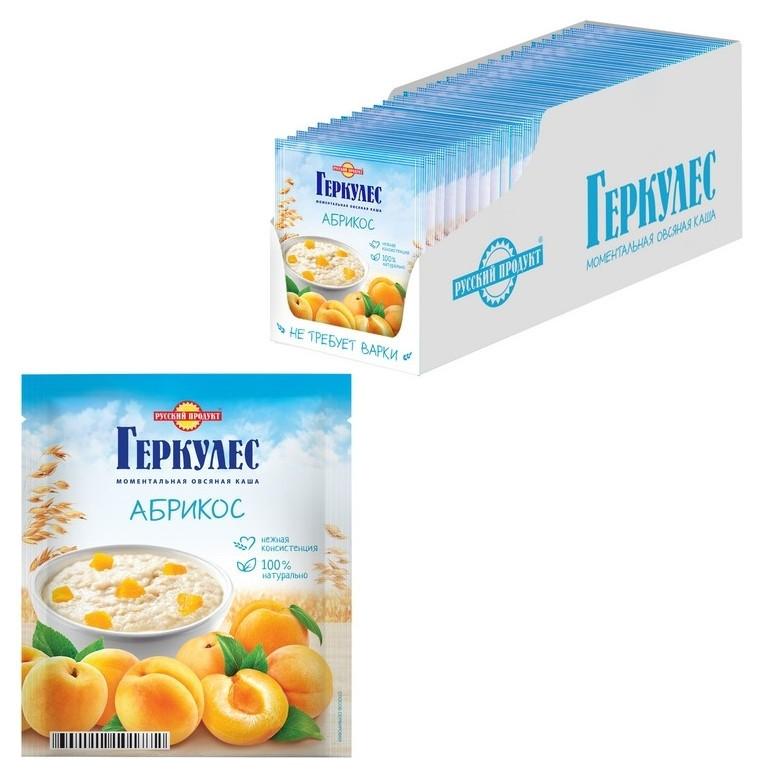 Каша овсяная русский продукт геркулес с абрикосами, 30штх35 г  Русский продукт