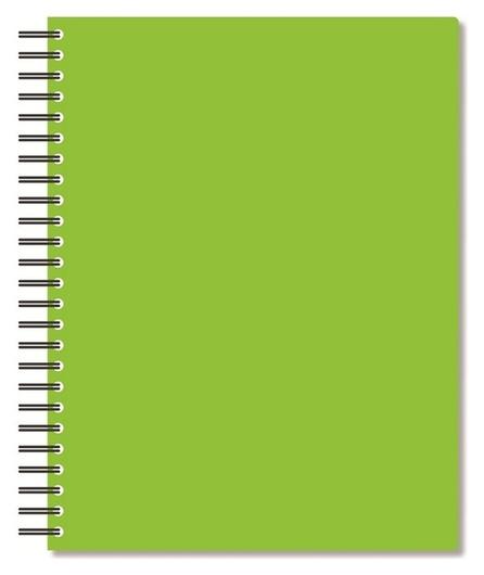 Бизнес-тетрадь а5,96л,кл,спир,пластик,тон.бл. Attache Bright Colours лайм  Attache