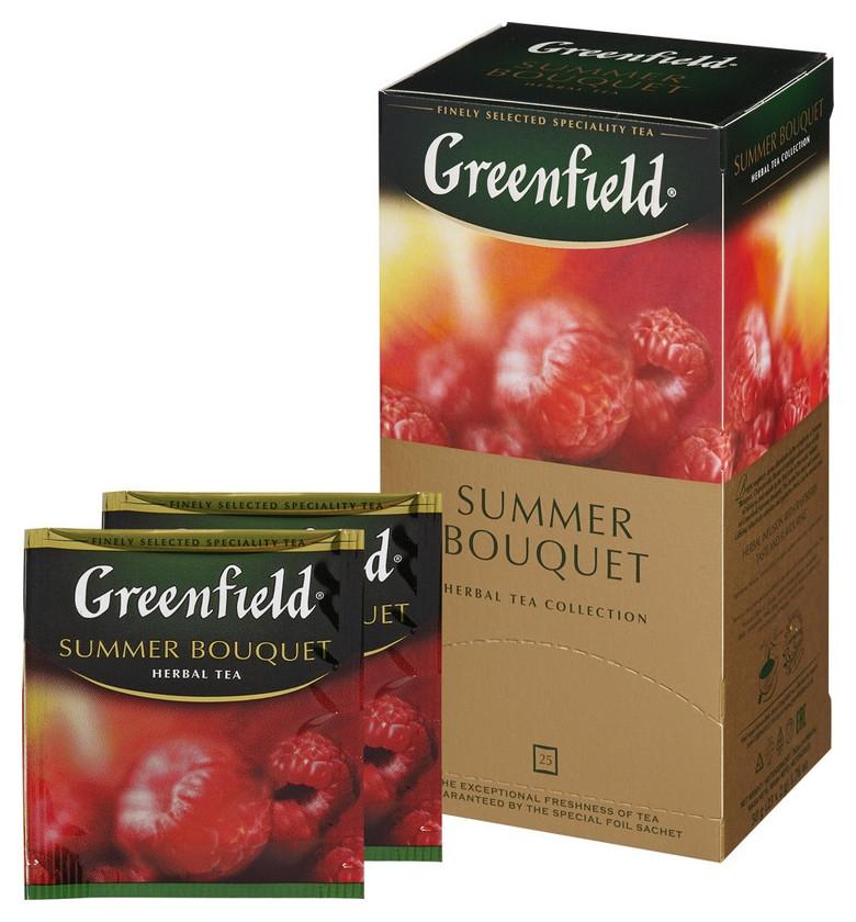 Чай Greenfield Summer Bouquet фруктовый фольгир.25пак/уп 0433-10  Greenfield