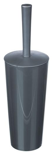 Ершик для унитаза закрытая колба пластик цвет - серый металлик Idea