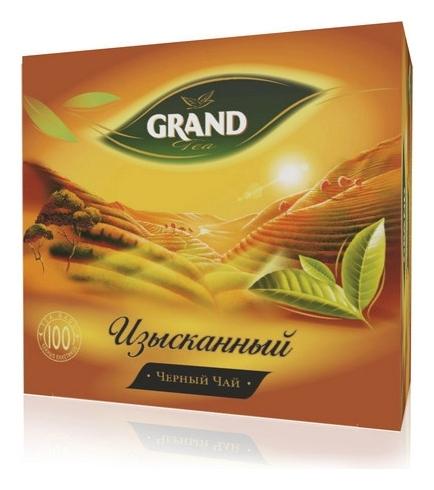 Чай Grand изысканный черный, 100 пакетиков  Grand