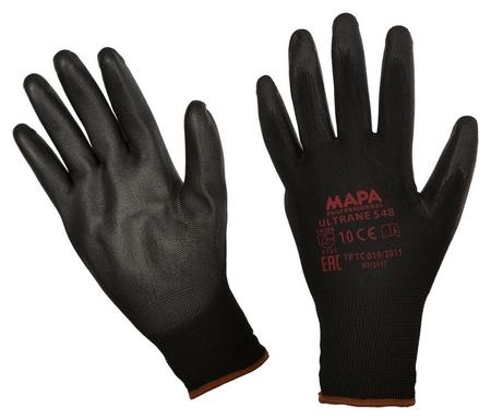 Перчатки защитные трикотажные Mapa Ultrane 548 нейлон C п/у пок черн р10,xl  Mapa