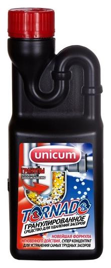 Средство для прочистки труб Unicum торнадо для удаления засоров 600 гр UNICUM
