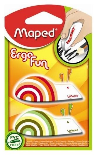 Ластик Maped Egrofun, винил, фигурный, цв.в ассорт,2шт/блист.57,5х22,5х10мм  Maped