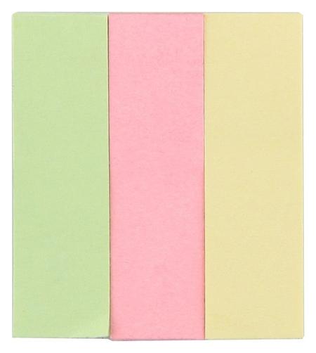 Клейкие закладки бумажные 3цв.по 40л. 15ммх50 Attache  Attache