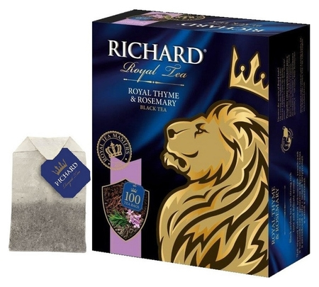 Чай Richard Royal Thyme&rosemary черный, 100 пак 13938  Richard