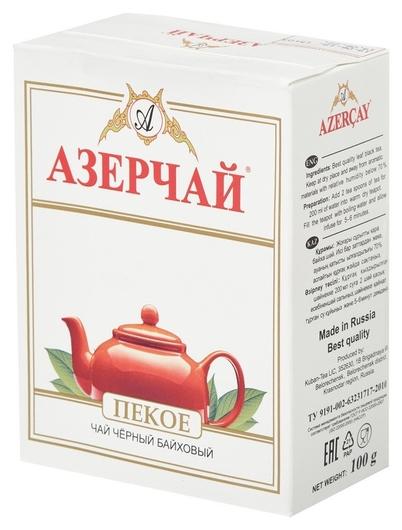 Чай азерчай пеко чай черный листовой, 100 г  Азерчай