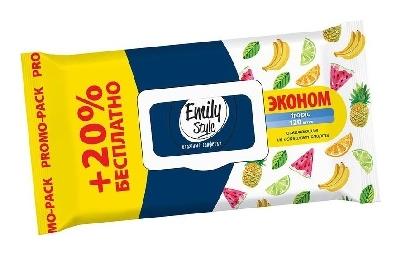 Салфетки влажные Emily Style Tropic 100+20шт/уп. с клапаном  Emily Style