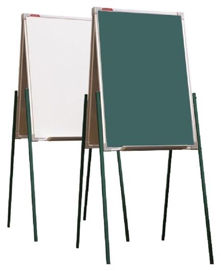 Доска - мольберт двусторонний комбинир.boardsys, H 1,0м, алюм.цветная рама  BoardSYS