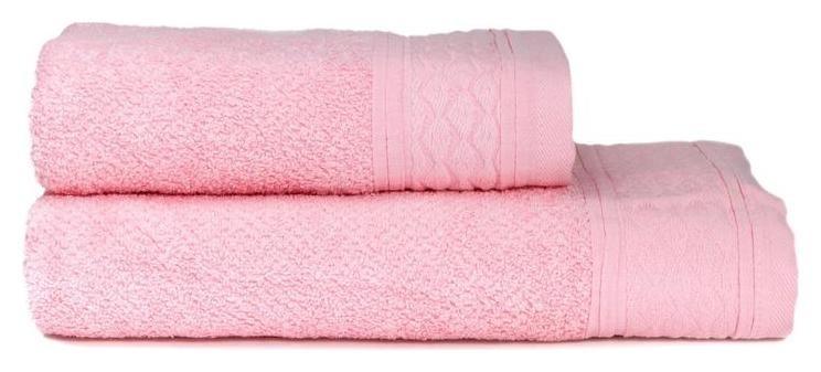 Набор махровых полотенец мистраль 50х90,70х140 пыльная роза  Cottonika