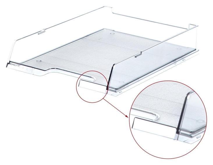 Лоток для бумаг HAN с инд.окном прозрачный арт.ha1020/23, C4  Han