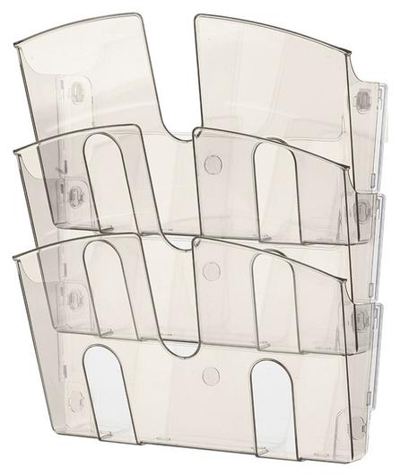 Дисплей настенный Attache 3 отделения А4 горизонтальные дымчатый  Attache