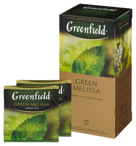 Чай Greenfield Green Melissa зеленый фольгир.25пак/уп 0435-10  Greenfield