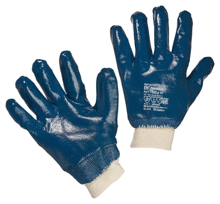Перчатки защитные полное нитриловое покрытие резинка  NNB