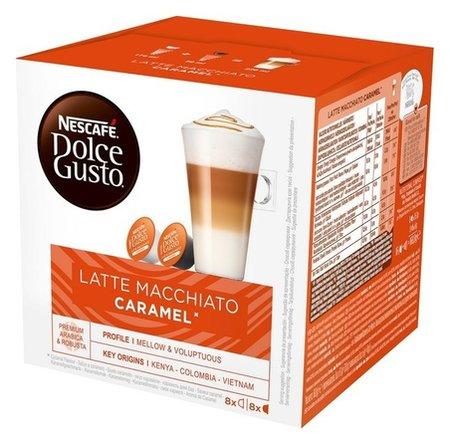 Кофе в капсулах Nescafe Dolce Gusto латте макиато со вкусом карамели  Nescafe