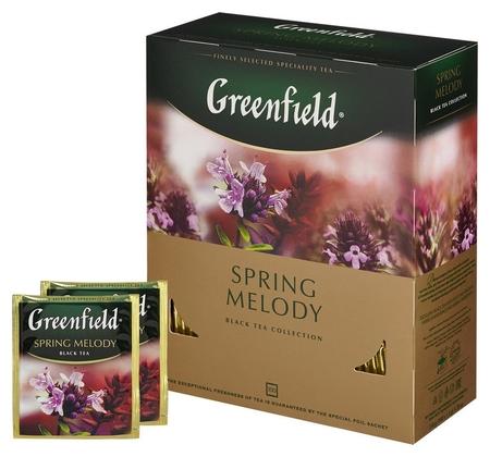 Чай Greenfield Spring Melody черный фольгир.100 пак 1065-09  Greenfield