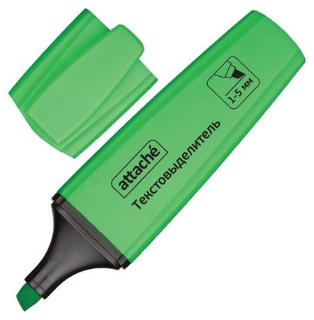 Маркер выделитель текста Attache Palette 1-5мм зеленый  Attache