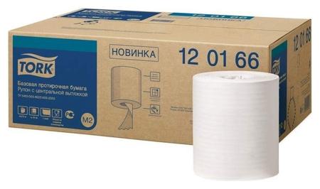 Бумага протирочная Tork M2 1 сл. ЦВ 6рул/кор,базовая,белая 120166  Tork