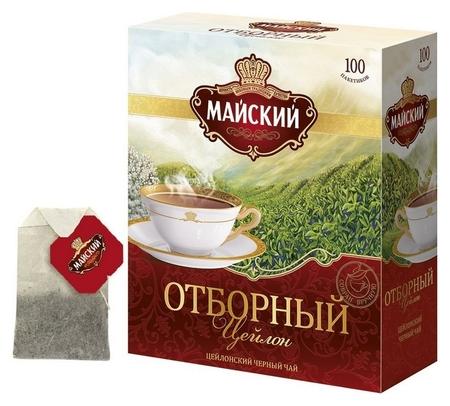 Чай майский черный отборный 100пакx2г 724403  Майский