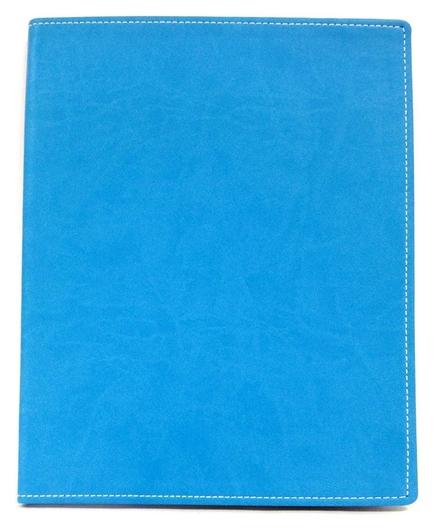Бизнес-тетрадь Attache клэр А4 96л, клетка, кожзам, ярко-голубая  Attache