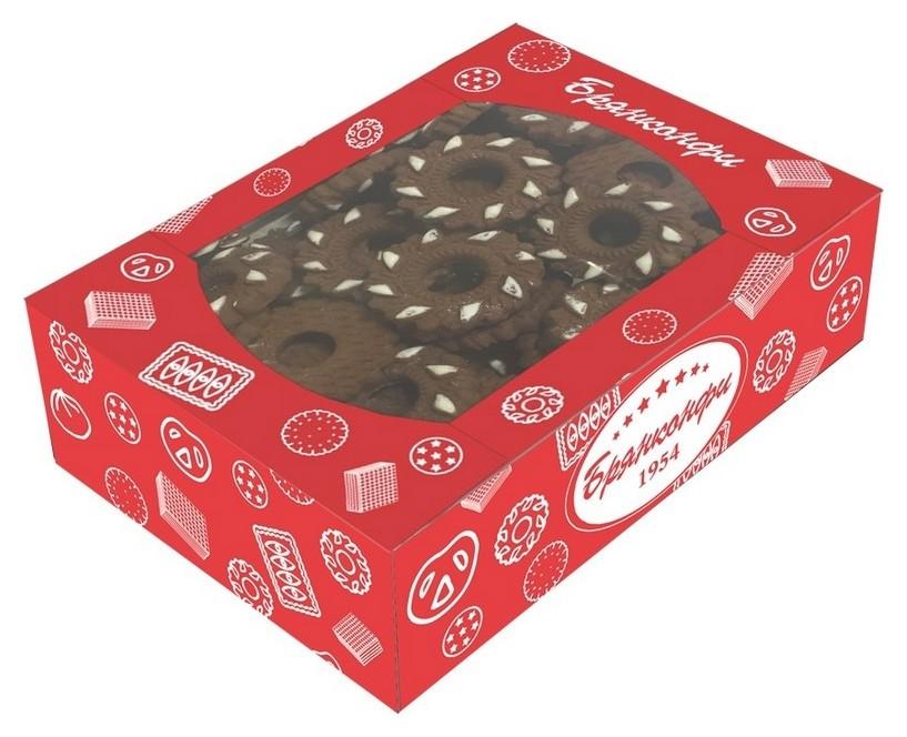 Печенье брянконфи нежные подснежники шоколадные, 500г  Брянконфи