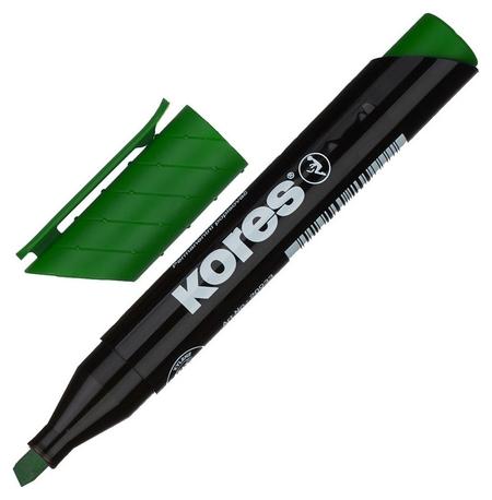 Маркер перманентный Kores зеленый 3-5 мм скошенный наконечник 20955  Kores