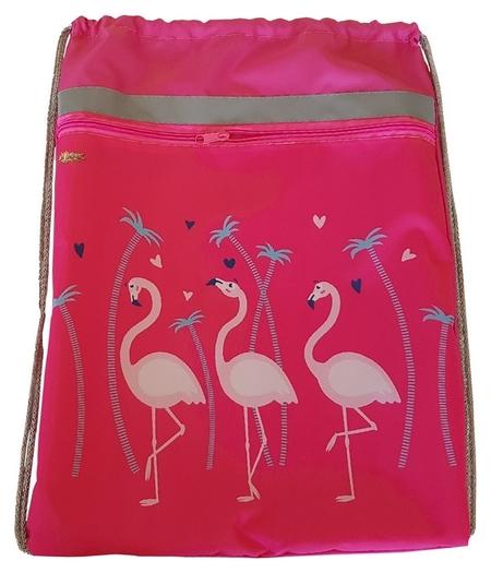 Мешок для обуви №1 School фламинго 370x470 мм, карман сосветоотражателем  №1 School