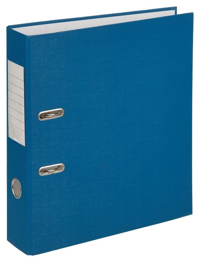 Папка-регистратор (Пвх+бумага)экономи, 75мм, синий  NNB