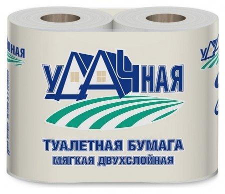 Бумага туалетная удачная 2сл втор втул 15м 120л 4рул/уп  NNB