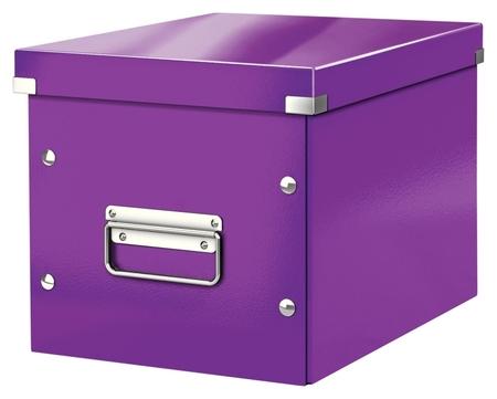 Короб Leitz Click&store, куб, (M), фиолетовый 61090062  Leitz