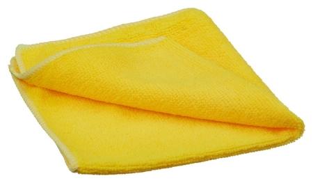 Салфетка для меловых досок микрофибра жёлтая 30х30 см пакет  NNB