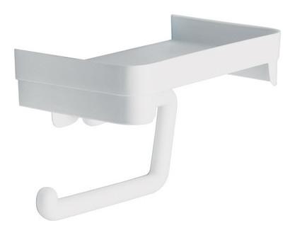 Держатель для туалетной бумаги пластиковый с полочкой м2224  Idea