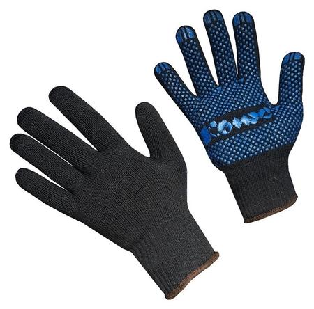 Перчатки защитные трикотажн комус ПВХ точка 5 нит 52г 10 кл черн р9 5пар/уп  Комус
