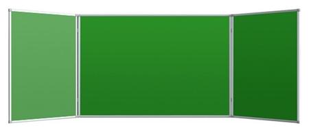 Доска меловая - магнитная зеленая 100х300 2-створ., аналог 402751  Attache