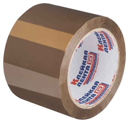 Клейкая лента упаковочная 75мм х 66м 47мкм коричневая россия NNB