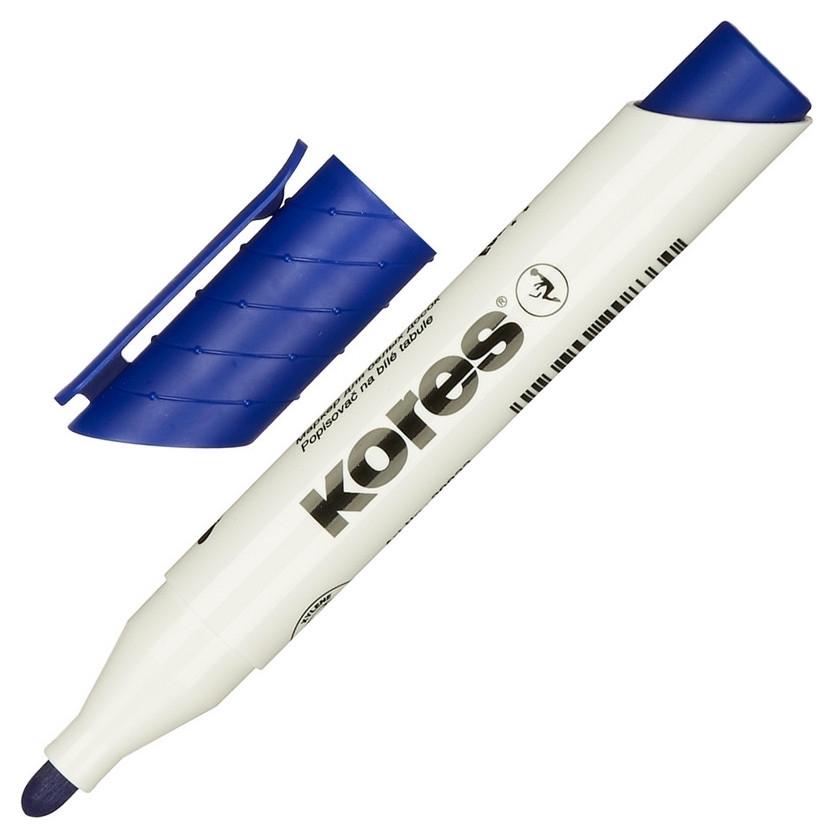 Маркер для досок Kores синий 3 мм круглый наконечник 20833  Kores